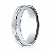 Benchmark 6mm Dual Finish 18K White Gold 9-Stone Eternity Diamond Ring