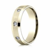 Benchmark 6mm Dual Finish 18K Yellow Gold 8-Stone Eternity Diamond Ring