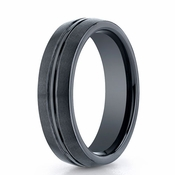 Benchmark 6mm Dual Finish Comfort Fit Ceramic Ring