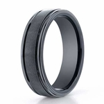 Benchmark 6mm Dual Finish Comfort Fit Ceramic Ring with Round Edge