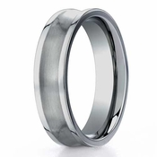 Benchmark 6mm Dual Finish Concave Titanium Ring