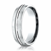 Benchmark 6mm Dual Finish Palladium Ring
