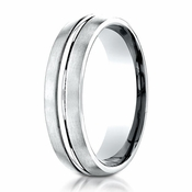 Benchmark 6mm Dual Finish Platinum Ring