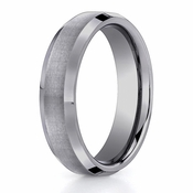 Benchmark 6mm Flat Tungsten Ring with Beveled Edges