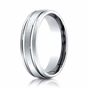 Benchmark 6mm Palladium Ring with Parallel Grooves