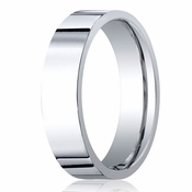 Benchmark 6mm Platinum Flat Comfort Fit Wedding Band