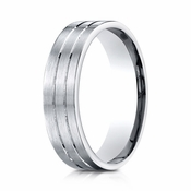 Benchmark 6mm Platinum Ring with Center Trims