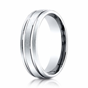 Benchmark 6mm Platinum Ring with Parallel Grooves