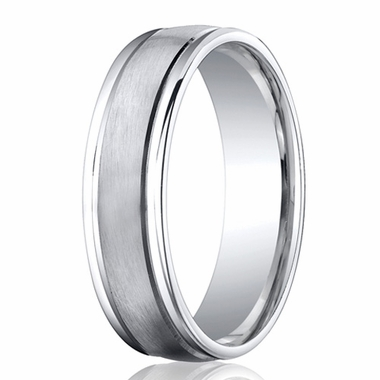 Benchmark 6mm Round Cobalt Chrome Ring with Ridged Edges