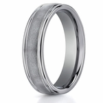Benchmark 6mm Round Tungsten Ring with Ridged Edges