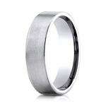 Benchmark 6mm Satin 10K White Gold Ring