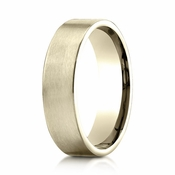 Benchmark 6mm Satin 18K Yellow Gold Ring