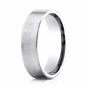 Benchmark 6mm Satin Platinum Ring