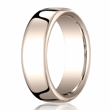 Benchmark 7.5mm 14K Rose Gold Euro Comfort Fit?Wedding Band