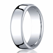 Benchmark 7.5mm 18K White Gold Euro Comfort Fit� Wedding Band