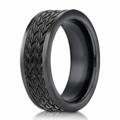 Benchmark 7.5mm Blackened Cobalt Chrome Ring with Tread Design