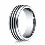 Benchmark 7.5mm Cobalt Chrome Ring with Black Channels