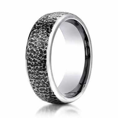 Benchmark 7.5mm Cobalt Chrome Ring with Mircro Hammer Finish