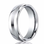 Benchmark 7.5mm Dual Finish Comfort Fit Cobalt Ring