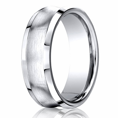 Benchmark 7.5mm Dual Finish Comfort Fit Concave Cobalt Ring
