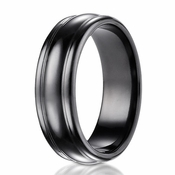 Benchmark 7.5mm High Polished Black Titanium Ring