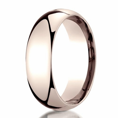 Benchmark 7mm 14K Rose Gold Dome Wedding Band