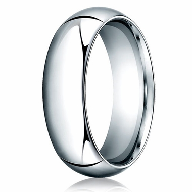 Benchmark 7mm 14K White Gold Heavy Comfort Fit Wedding Band