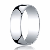 Benchmark 7mm 14K White Gold Low Dome Wedding Band