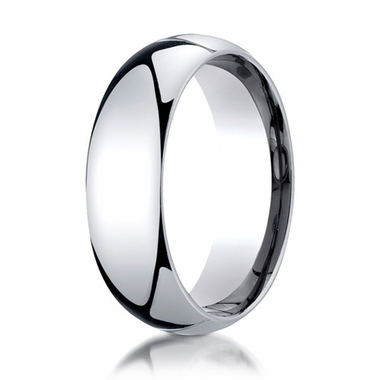 Benchmark 7mm 14K White Gold Super Light Comfort Fit Ring
