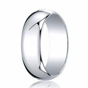 Benchmark 7mm 14K White Gold Traditional Wedding Band