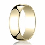 Benchmark 7mm 14K Yellow Gold Low Dome Wedding Band