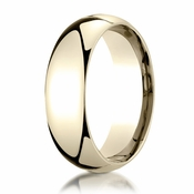 Benchmark 7mm 14K Yellow Gold Super Light Comfort Fit Ring