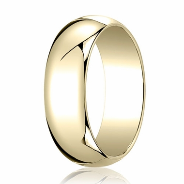 Benchmark 7mm 14K Yellow Gold Traditional Wedding Band