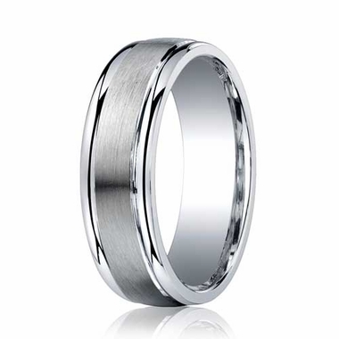 Benchmark 7mm ARGO Silver Comfort Fit Ring with Polished Edges
