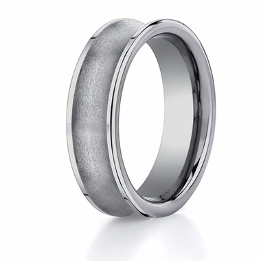 Benchmark 7mm Brushed Concave Tungsten Ring