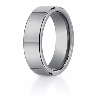 Benchmark 7mm Classic Flat Tungsten Ring