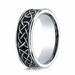 Benchmark 7mm Cobalt Chrome Ring with Celtic Knot Design