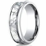 Benchmark 7mm Cobalt Chrome Ring with Hammered Center