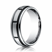 Benchmark 7mm Cobalt Chrome Ring with Sectional Design