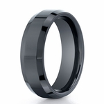 Benchmark 7mm Comfort Fit Ceramic Ring with Beveled Edge
