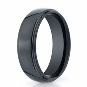 Benchmark 7mm Comfort Fit Ceramic Ring with Double Edge