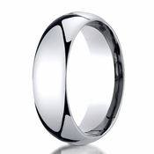 Benchmark 7mm Dome 14K White Gold Wedding Band