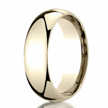 Benchmark 7mm Dome Shaped 14K Yellow Gold Band