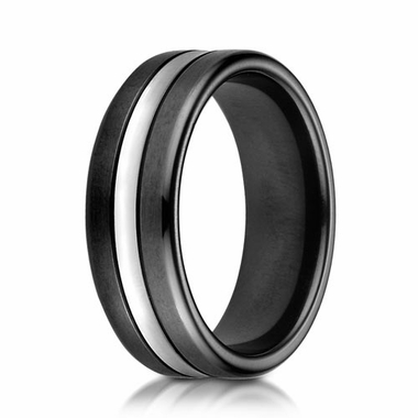 Benchmark 7mm Dual Finish Blackened Cobalt Chrome Ring