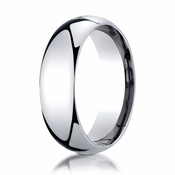 Benchmark 7mm Platinum Super Light Comfort Fit Ring