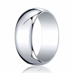Benchmark 8mm 14K White Gold Traditional Wedding Band