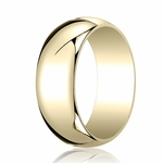 Benchmark 8mm 14K Yellow Gold Traditional Wedding Band