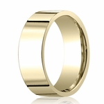 Benchmark 8mm 14K Yellow Gold Flat Comfort Fit Wedding Band