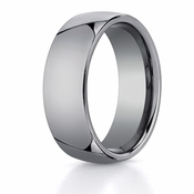 Benchmark 8mm Classic Round Tungsten Ring
