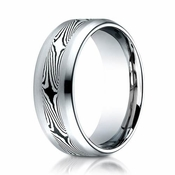 Benchmark 8mm Cobalt Chrome Ring with Mokume Design
